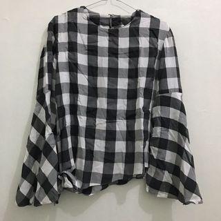 Black square blouse
