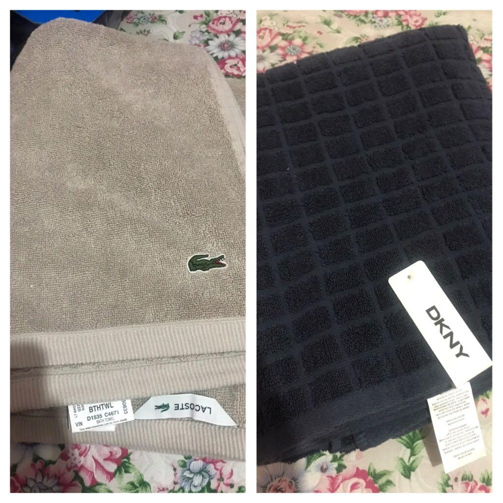 Bnwt Lacoste Dkny Bath Towels Furniture Home Living Bedding On Carousell