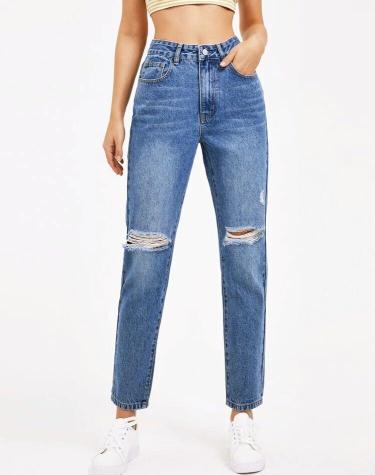 Brand New High Waisted Straight Jeans