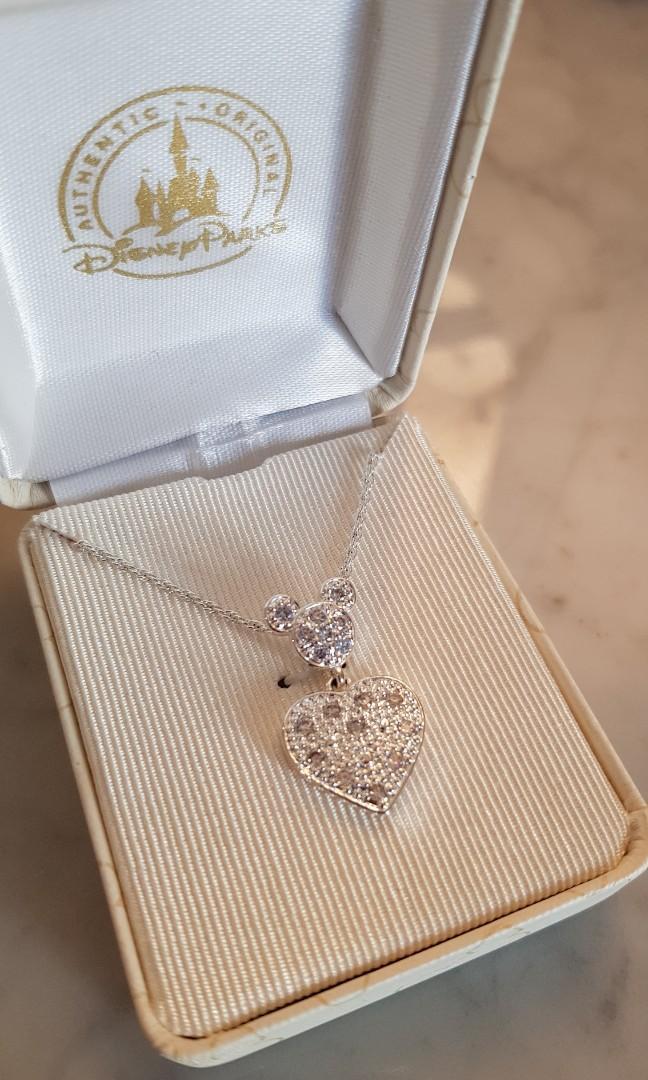 Disney Mickey Heart Pendant Nacklace