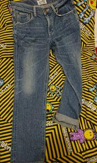 LEE 淺藍自然刷色牛仔褲 馬毛標 牛革 日本製 Japan 巴黎釦 #2021地球日