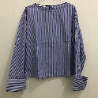 Mango stripe blouse