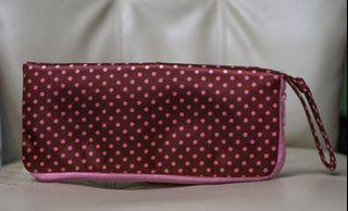 Pink pouch from japan almost new