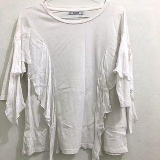 Pull n bear white shirt