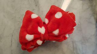Red Bow Headband with Polka Dots