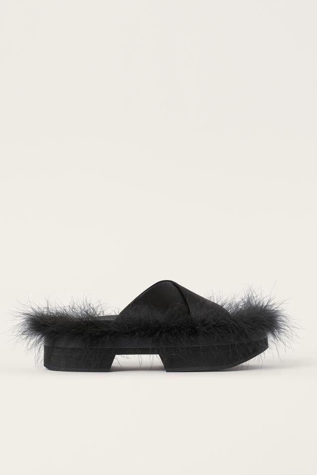 Simone Rocha x H&M - Feather-detail Slides