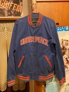 Under peace 牛仔棒球外套