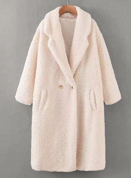 white teddycoat