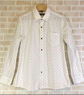 流行時尚點點襯衫