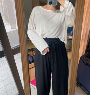 韓製 柔軟微透上衣 白