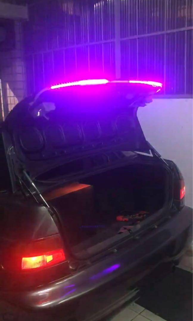 汽車 微笑燈 流水燈 高品質 附控制器 7線 正級/接地/小燈/煞車/倒車/方向燈