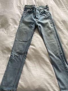 Aritzia denim forum yoko high rise jeans