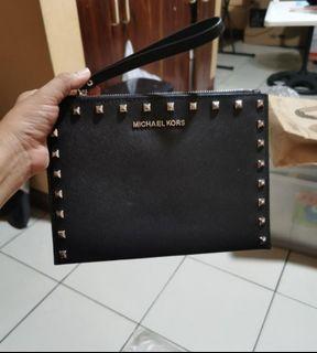 Authentic Michael Kors MK large wristlet/pouch