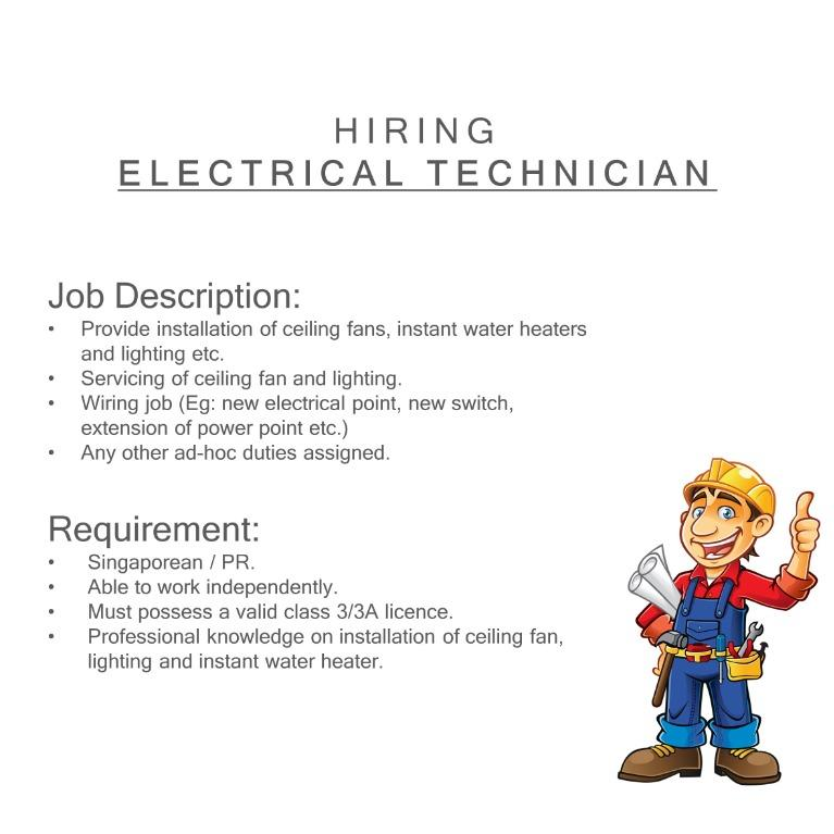 Hiring Electrical Technician