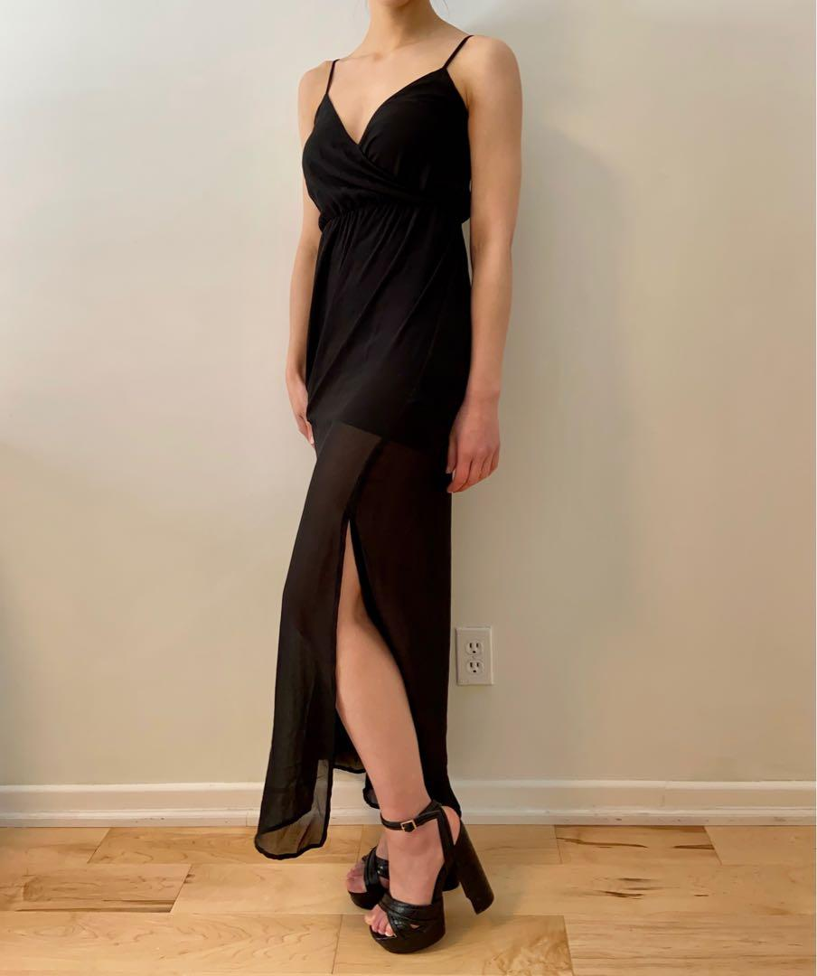 H&M - side slit maxi dress