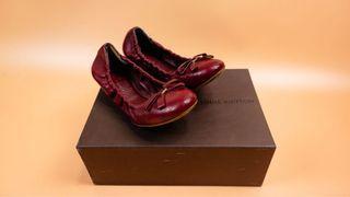 Louis Vuitton red ballet flats