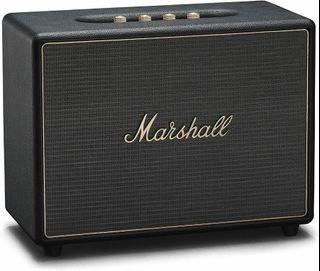 Marshall Woburn II 最新加強版、Wi-Fi + 藍牙二種無線傳輸、多房間連結- 黑