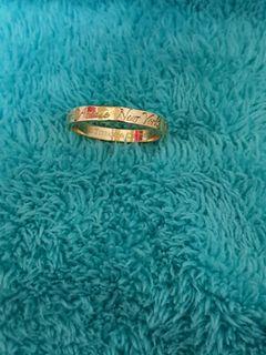 Minimalist ring 18k gold