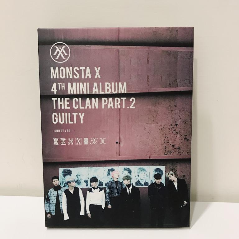 MONSTA X 韓版全專4th mini album 'THE CLAN PART.2 GUILTY'