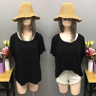Plus size black blouse (size:xL)