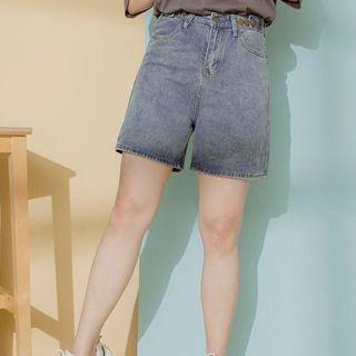 Polylulu 四分褲 短褲 全新 牛仔褲 腰圍可調