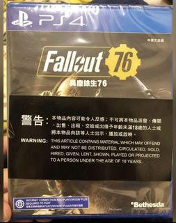 [PS4 game] Fallout 76