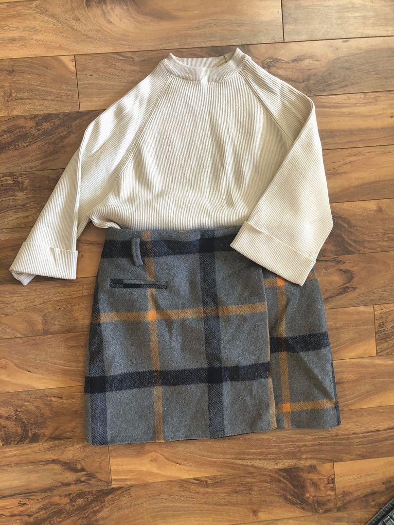 Sweater & skirt set