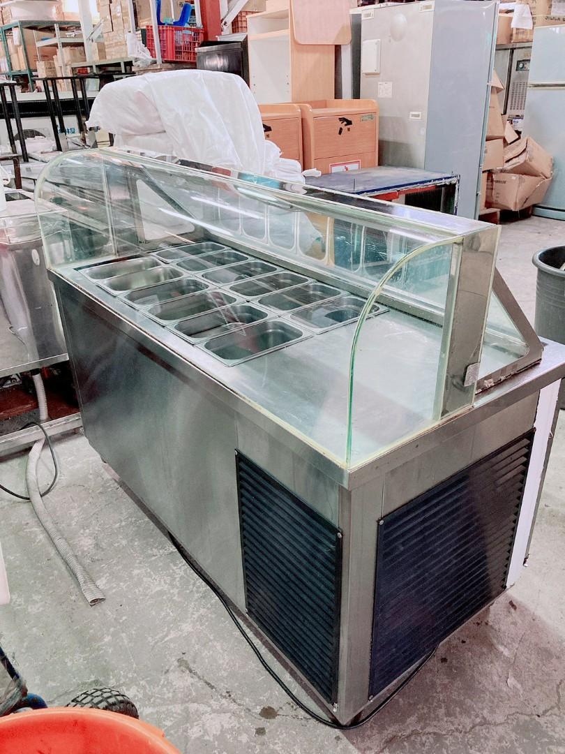 寶鼎五尺沙拉吧工作台冷藏冰箱/刨冰台 220V 風冷 🏳️🌈萬能中古倉🏳️🌈