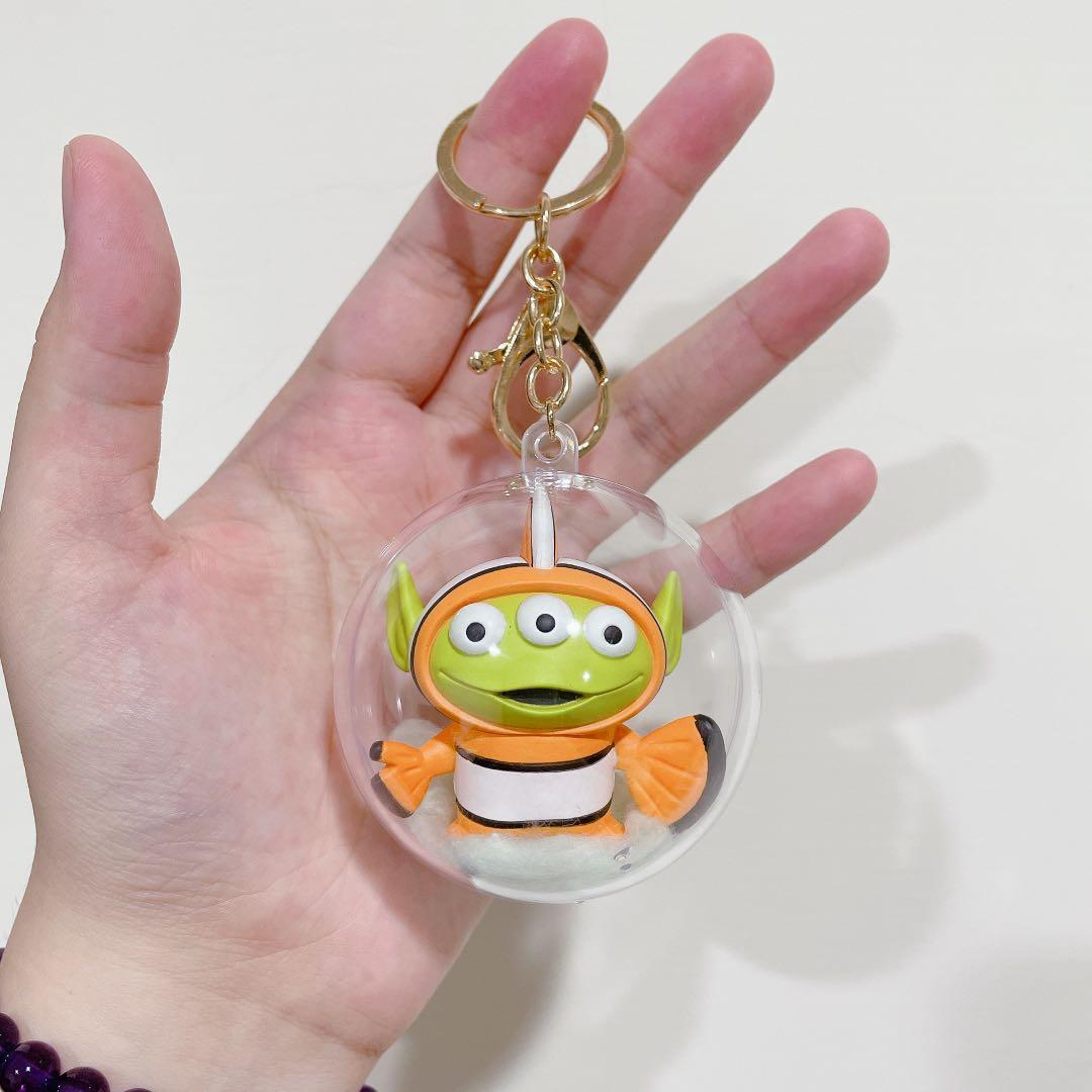 三眼怪變裝派對透明球鑰匙圈 扭蛋 尼莫 手作商品 玩具總動員 泡泡球