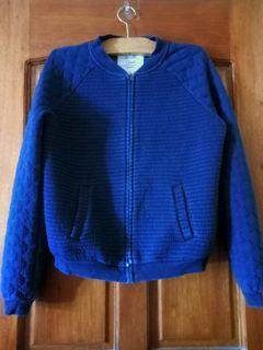 Bershka Varsity Jacket / Cardigan - Dark Blue