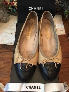 Chanel 香奈兒 經典slingback 平底鞋(38)