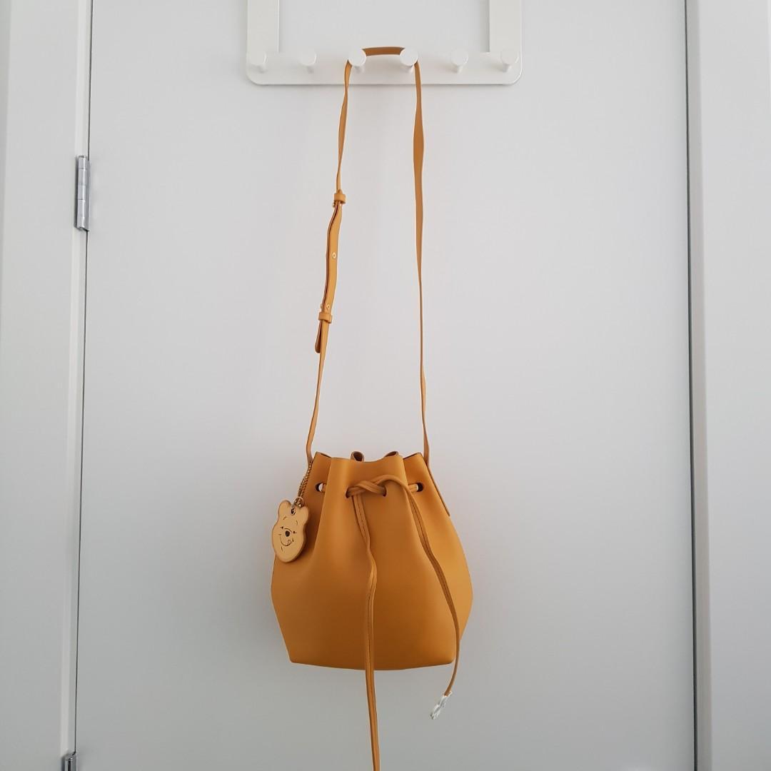 Disney Winnie The Pooh Yellow Bucket Bag