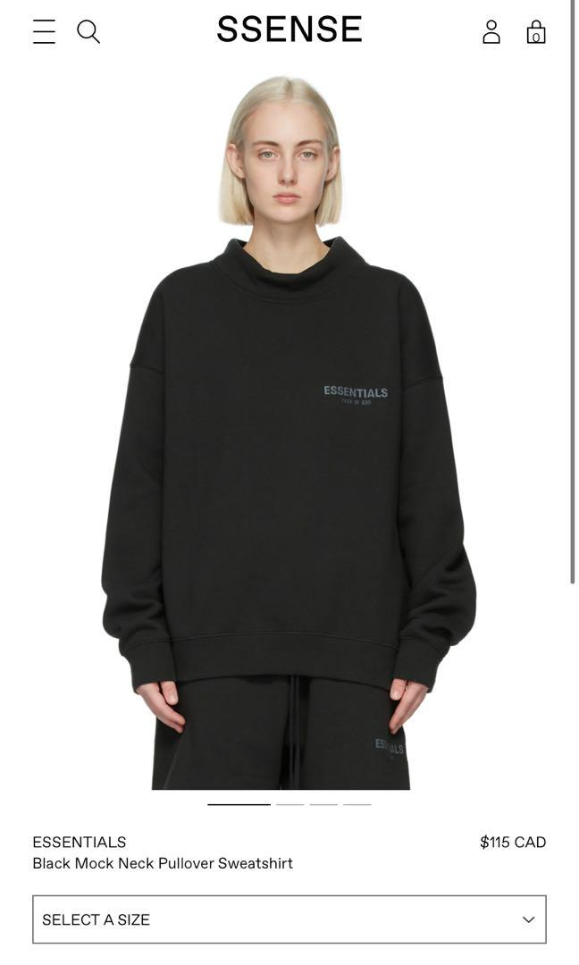 Essentials mock neck sweater