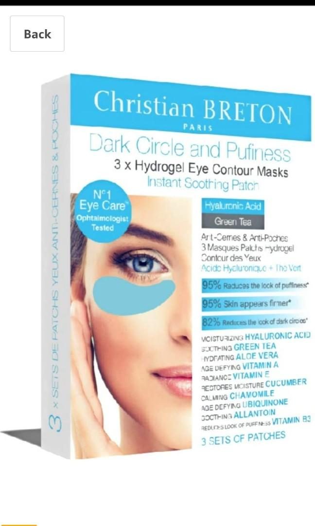 🌼Eye Priority by Christian BRETON Dark Circle and Puffiness Hydrogel Eye Contour Masks x 3
