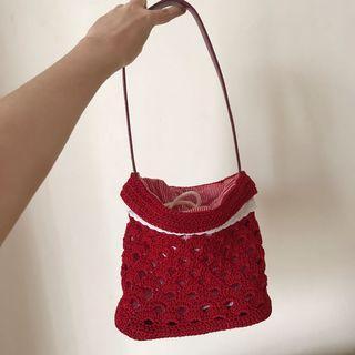 Handmade Crochet Tas Rajut Bucket Bag