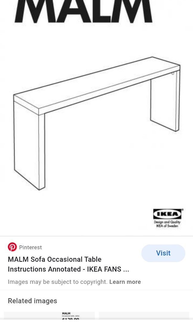 Ikea Malm Occasional Table Home Furniture On Carousell