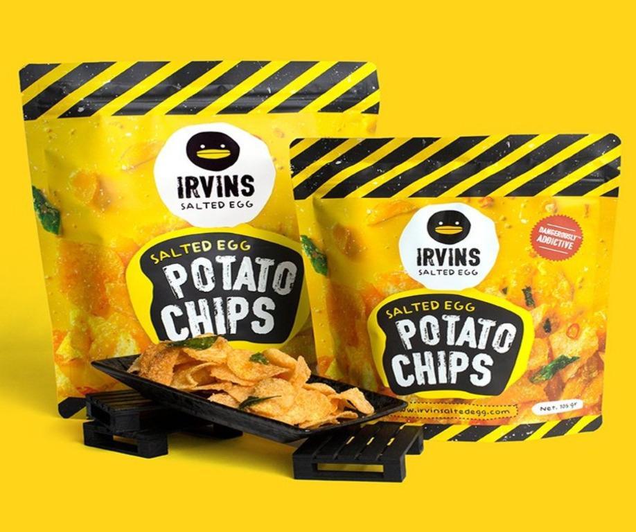 Irvins Salted Egg Potato Chips Large (230g)