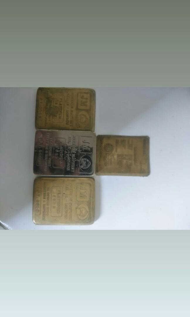 Platinum JM 99,99 + sertifikat, Asli no replica COD only biar bisa liat barangnya