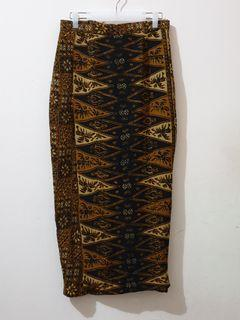 Rok batik panjang coklat