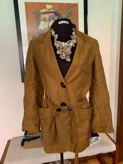 Zara linen caramel/mustard blazer