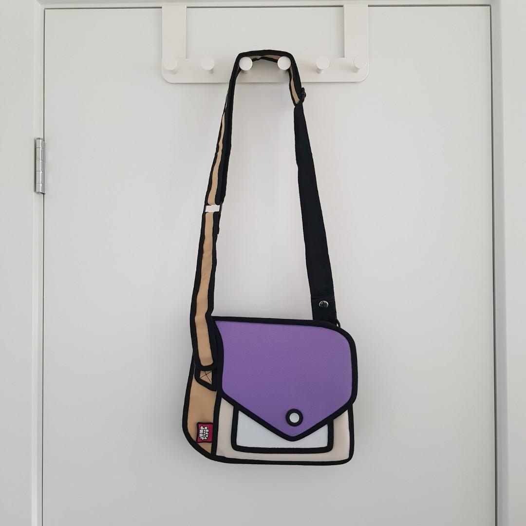 2D Cartoon Designer Crossbody Bag