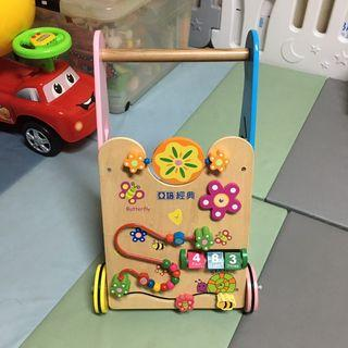 【二手】寶寶學步玩具推車