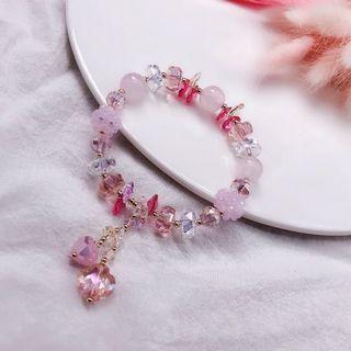天然 粉晶 紅幽靈 手鍊 粉晶手珠 招桃花手珠 招貴人手珠 招桃花 引貴人 改善磁場
