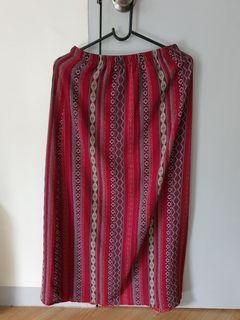 Aztec slit skirt