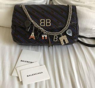 BALENCIAGA Handbag ( BB Round flap with Chams) ( 💯 % Authentic)