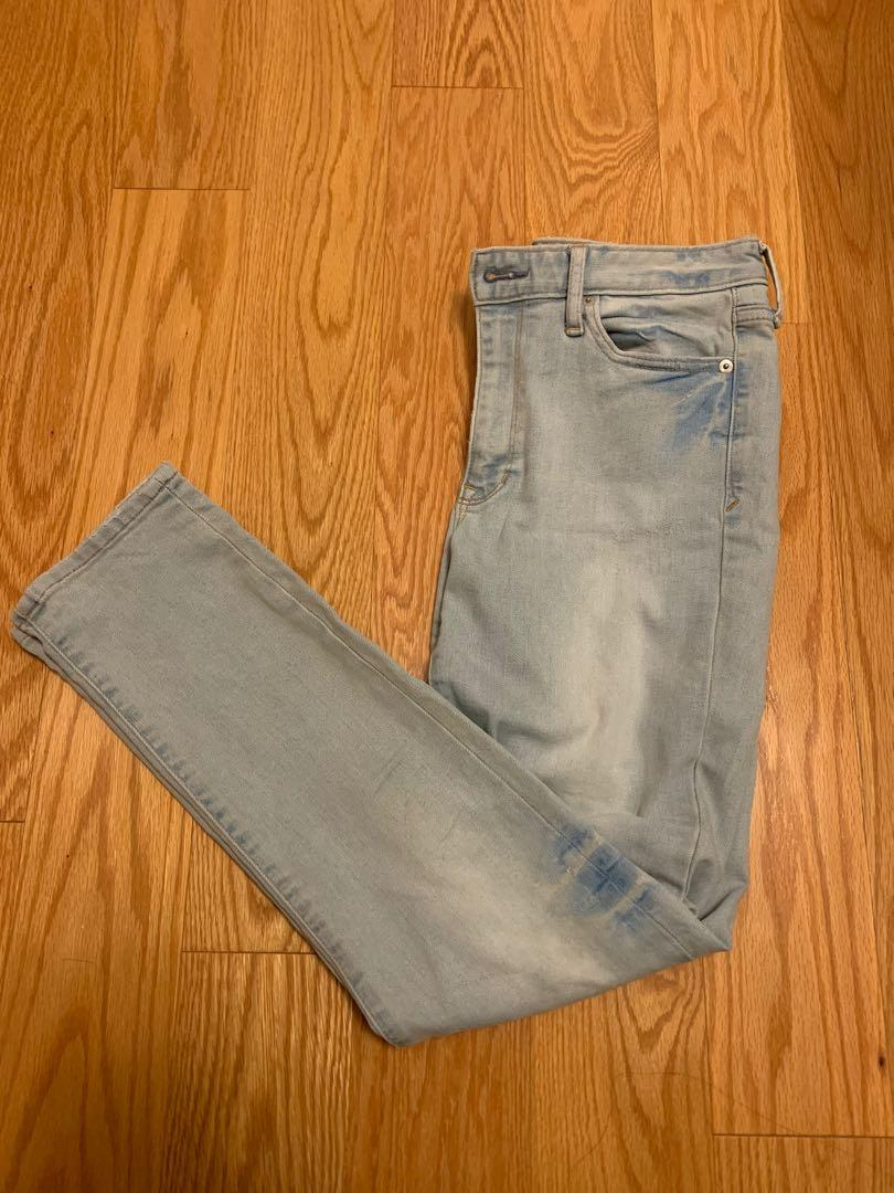 Gap jeans skinny high waisted light wash size 27