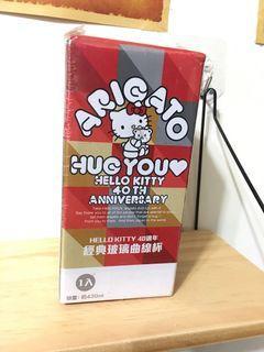 Hello Kitty 40週年經典玻璃曲線杯 免運 大特價!