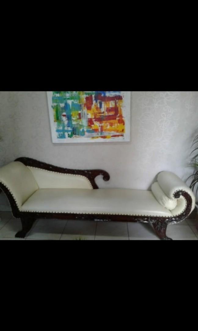 Kursi Sofa Panjang Kayu+bonus karpet anyaman