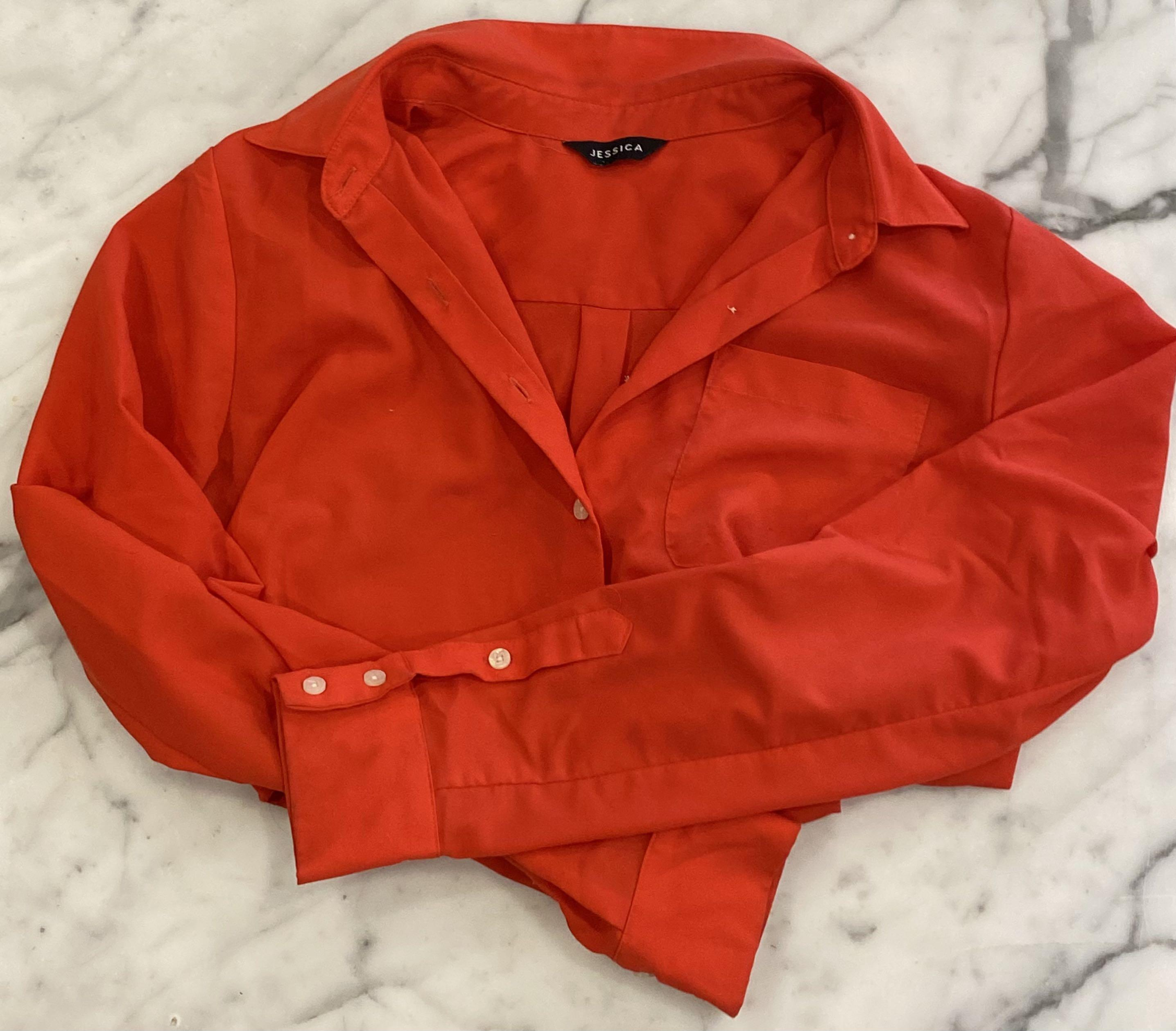 LIKE NEW RED BLOUSE