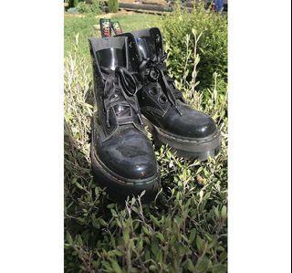 Molly RainBow Patent PlatForm Boots